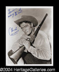 Autographs, Chuck Connors Signed 8 x 10 Photograph