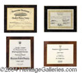 Autographs, Jackie Cooper Personal Awards Lot
