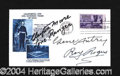 Autographs, Cowboy Legends Signed Cover w/Moore, Rogers, & Autry!