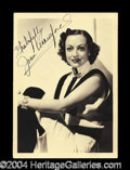 Autographs, Joan Crawford Vintage Signed Photograph