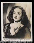 Autographs, Bette Davis Vintage Signed 8 x 10 Photo