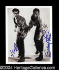 Autographs, Tony Curtis & Sidney Poitier In-Person Signed Photo