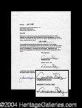 Autographs, Cameron Diaz Rare Signed Document