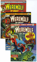 Bronze Age (1970-1979):Horror, Werewolf by Night Group (Marvel, 1973-74) Condition: AverageNM-.... (Total: 5 Comic Books)