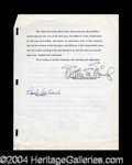 Autographs, Walt Disney Rare Signed Document