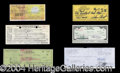 Autographs, Entertainers Signed Check Super Lot!