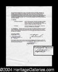 Autographs, Bridget Fonda Signed Movie Contract