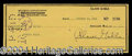 Autographs, Clark Gable Signed Bank Check