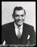 Autographs, Clark Gable Vintage Signed Photo