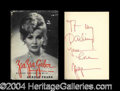 Autographs, Zaza Gabor Signed First Edition Book