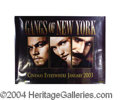 Autographs, Gangs of New York Cast Signed Promo Poster