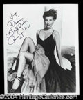 Autographs, Ava Gardner Beautiful Signed 8 x 10 Photo