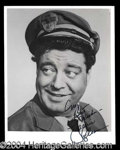 Autographs, Jackie Gleason Superb Signed Honeymooners Photo