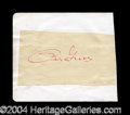 Autographs, Betty Grable Great Ink Signature