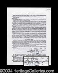 Autographs, Jennifer Grey Signed Document