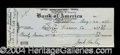 Autographs, Jack Haley Rare Vintage Signed Bank Check c.1938