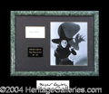 Autographs, Margaret Hamilton Wizard of Oz Framed Display