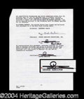 Autographs, George Hamilton Godfather III Rare Signed Document