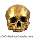 Autographs, Hook The Movie Prop Gold Skull