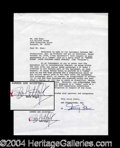 Autographs, Bob Hope Uncommon Signed Document