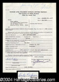Autographs, Andy Kaufman Rare Signed SNL Document