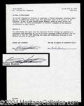 Autographs, Diane Keaton Signed Godfather III Document