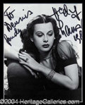 Autographs, Hedy Lamarr Signed Matted Display
