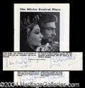 Autographs, Vivien Leigh & Laurence Olivier Signed Program