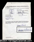 Autographs, George Lucas Rare Signed Star Wars Document