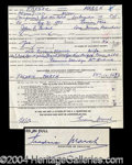 Autographs, Fredric March Vintage Signed Document