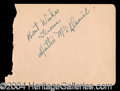 Autographs, Hattie McDaniel (Gone With The Wind) Rare Ink Signature