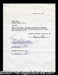 Autographs, Elizabeth Montgomery and William Asher Signed Document