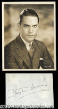 Autographs, Chester Morris Nice Ink Signature