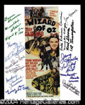 Autographs, The Wizard of Oz Signed Munchkins Photo