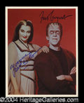 Autographs, The Munsters Gwynne/DeCarlo Signed Photo