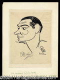 Autographs, Laurence Olivier Signed Oscar Berger Sketch