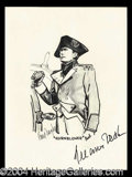 Autographs, Gregory Peck Handsome Signed Art Print