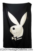 Autographs, Hugh Hefner Original Playboy Club Flag
