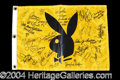 Autographs, Impressive Signed Playboy Golf Flag w/ 15 + Sigs!