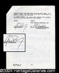 Autographs, Jason Priestley's Original 90210 Contract
