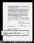Autographs, Gilda Radner Rare Signed Saturday Night Live Document
