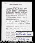 Autographs, Christopher Reeves Rare Signed Document