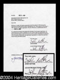 Autographs, John Ritter Double Signed Document