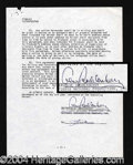 Autographs, Gene Roddenberry (Star Trek) Signed Document