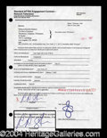 Autographs, Rebecca Romijn Signed Document