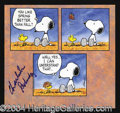 Autographs, Charles Schulz Signed Snoopy Print