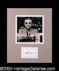 Autographs, Martin Scorsese Signed Matted Display