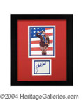 Autographs, George C. Scott Framed Signed Patton Display