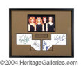 Autographs, Sex and The City Cast Signed Framed Display