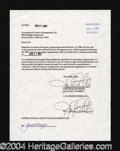 Autographs, Jaclyn Smith Double Signed Document